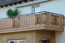 balkongel nder aluminium balkongelaender alu holzoptik. Black Bedroom Furniture Sets. Home Design Ideas