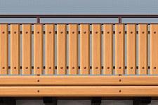 Balkongelander Aluminium Balkongelaender Alu Holzoptik