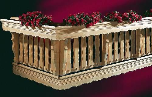 Holzbalkongelander Und Einzelteile Holzkomplett De