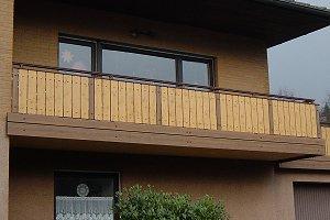 Kunststoffprofile Balkon | Balkongelander Kunststoff Holzoptik